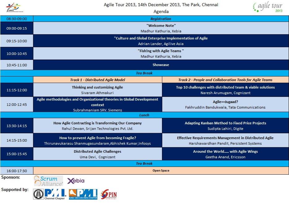 Agenda Chennai Agile Tour 2013_v6